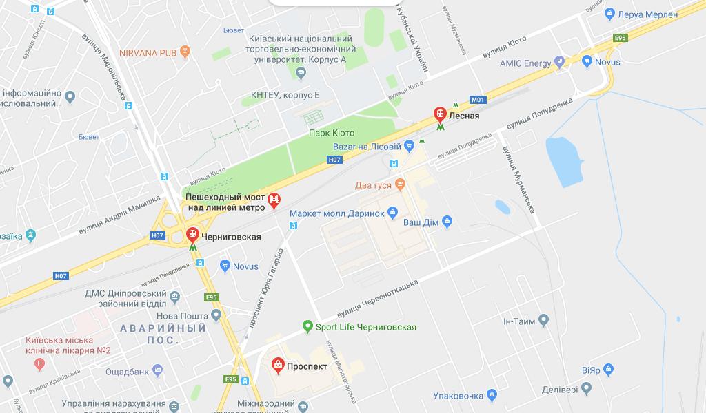 Деснянский район Киева Метро