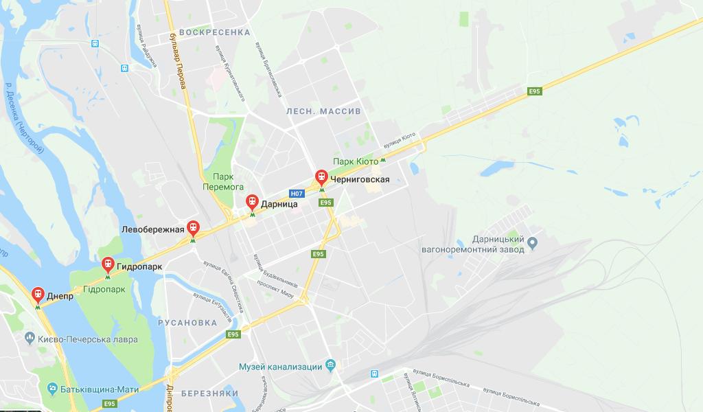 Днепровский район Киева Метро