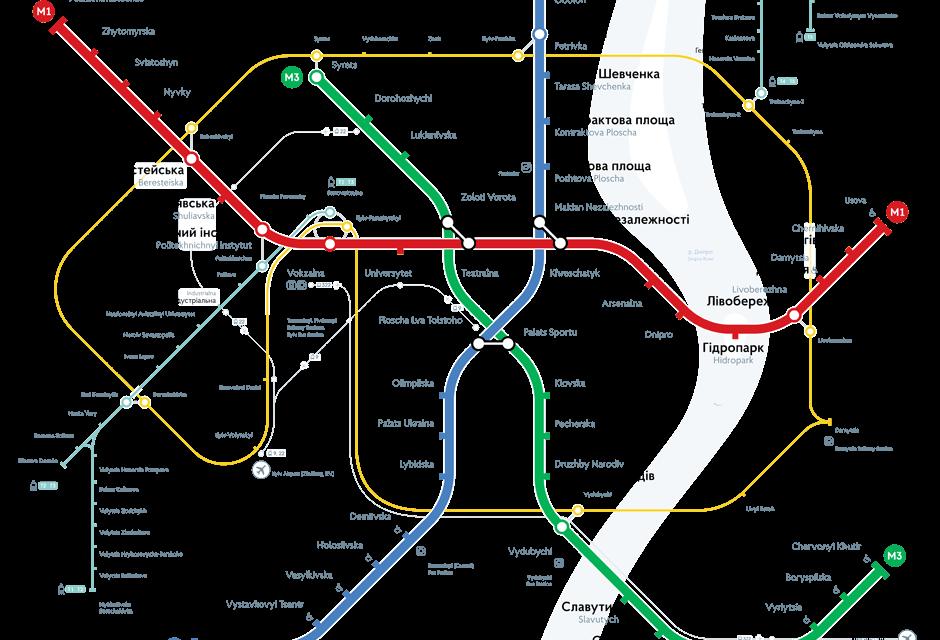 Карта метро Киева