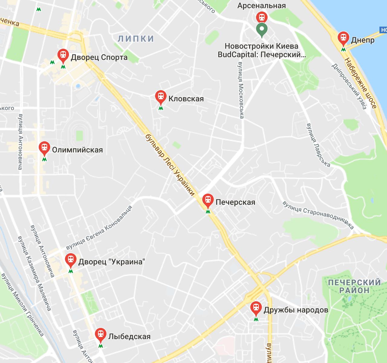 Печерский район 10 станций Киевского метрополитена