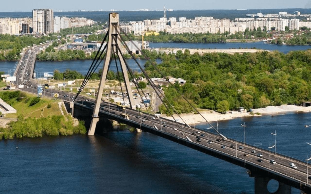 Московский мост Оболонский район Киева